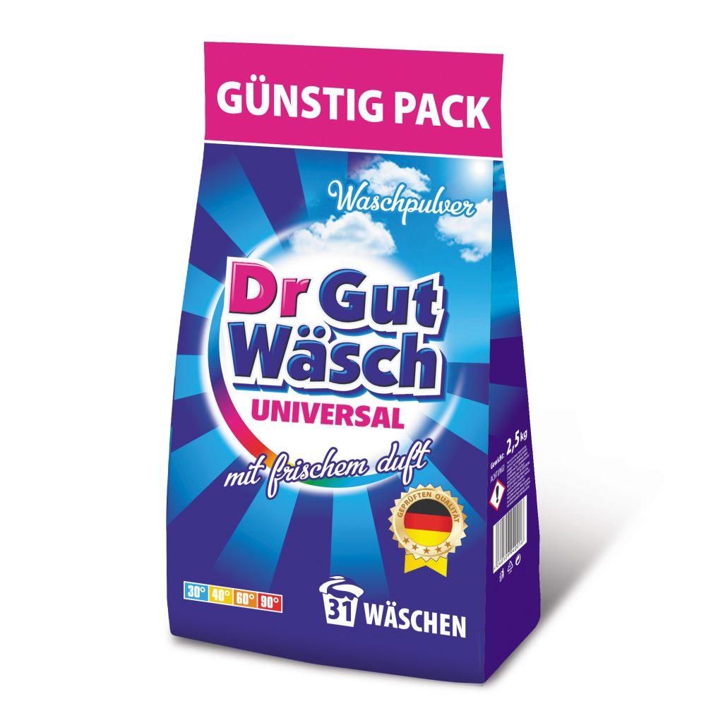 Waschmittel Pulver dr GutWasch 2.5 kg
